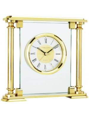 Classic Column Carriage Clock with Brushed Dial   04004