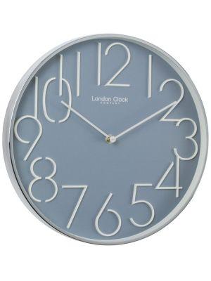 Grey Blue Contemporary Office Wall Clock   20434