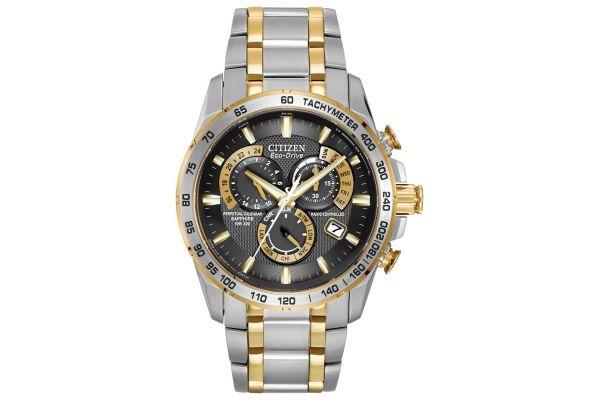 Mens Citizen Perpetual Calendar Watch AT4004-52E