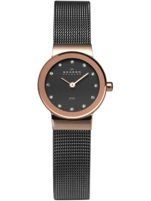 Womens Skagen Freja Crystal set rose gold milanese strap 358XSRM Watch