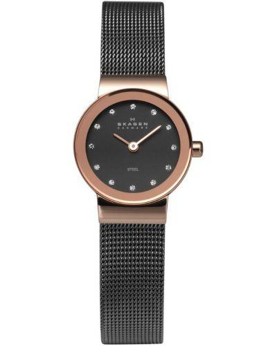 Womens Skagen Freja Crystal set rose gold milanese strap 358XSRM Watch