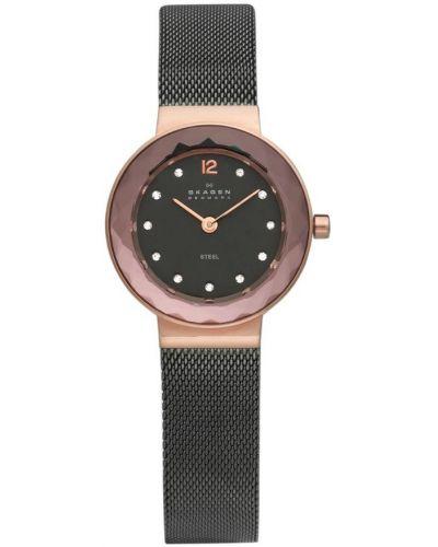 Womens Skagen Leonora faceted glass grey ion 456SRM Watch