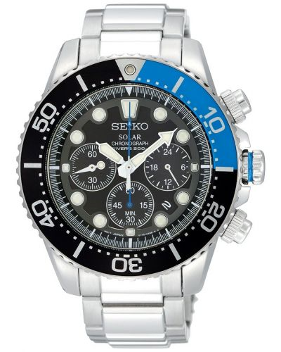 Mens Seiko Prospex Solar Divers Chrono SSC017P1 Watch
