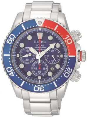 Mens Seiko Solar Divers SSC019p1 Watch