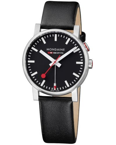 Mens Mondaine Evo Alarm 40mm Black Strap A468.30352.14SBB Watch