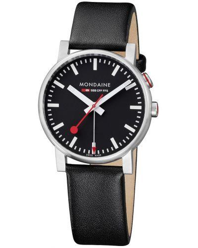 Mens Mondaine Evo Alarm 40mm Black Strap A468.30352.14SBB Watch