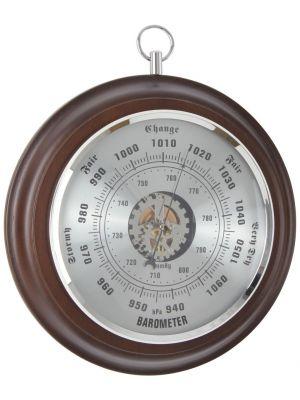 Spun Metal Circular Wall Barometer | 28043