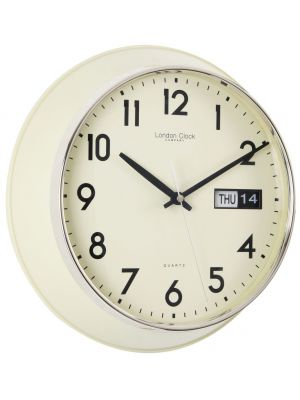 Day and Date Cream Arabic Dialed Retro Wall Clock   24207
