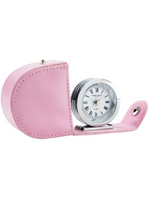 Folding Travelling Alarm Clock in Pink   32513