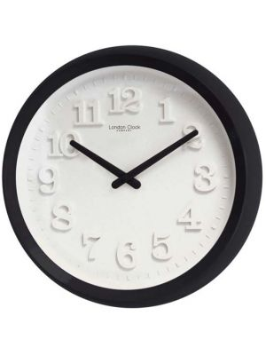 Bold Gloss Black Case Wall Clock with White Dial   20413