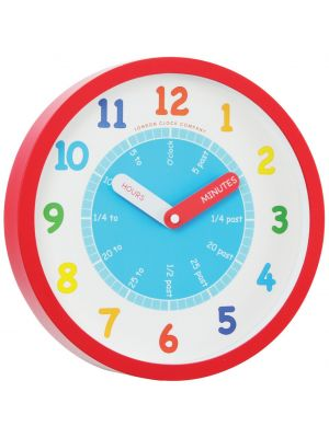Teach the Time Red Cased Childrens Wall Clock | 24183