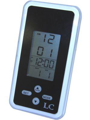 Black Lightweight Travel Alarm Clock | 34307