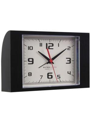 Black Retro Quartz Alarm Clock | 32530