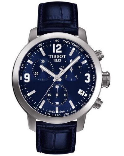 Mens Tissot PRC200 Chronograph on leather strap T055.417.16.047.00 Watch