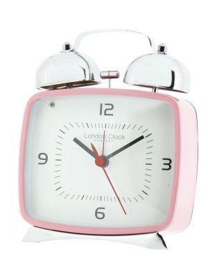Retro Pink Twin Bell Alarm Clock | 32504