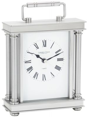 Silver finish carriage clock | 03069