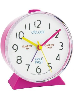 Pink Tell the Time Alarm Clock | 32508