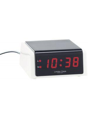 White LED mains powered alarm clock | 06366