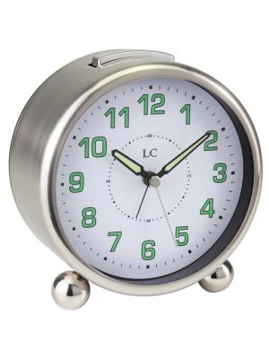 Round Bell Alarm Clock with Luminous Hands and Steel Case | 34303