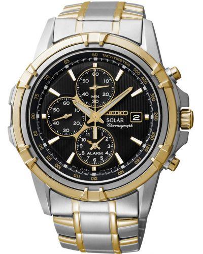 Mens Seiko Solar Alarm Chronograph SSC142P1 Watch