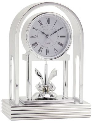 Silver Anniversary Clock with Alarm | 03110