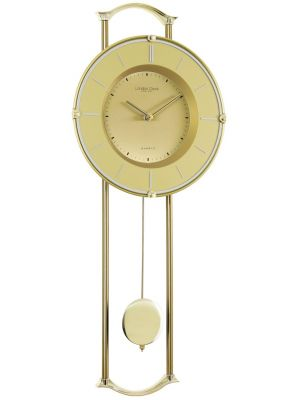 Gold pendulum wall clock   23148
