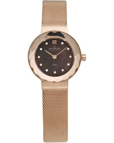 Womens Skagen Leonora faceted glass rose gold 456SRR1 Watch