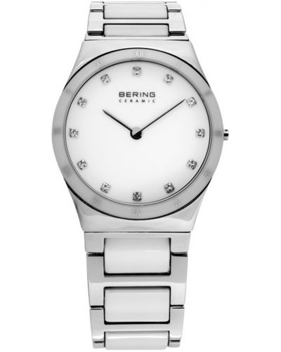 Womens Bering Ceramic white crystal set stainless steel 32230-764 Watch