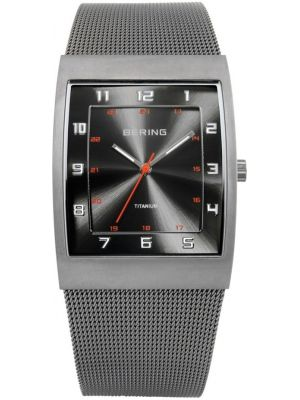 Mens Bering Titanium grey milanese strap 11233-077 Watch