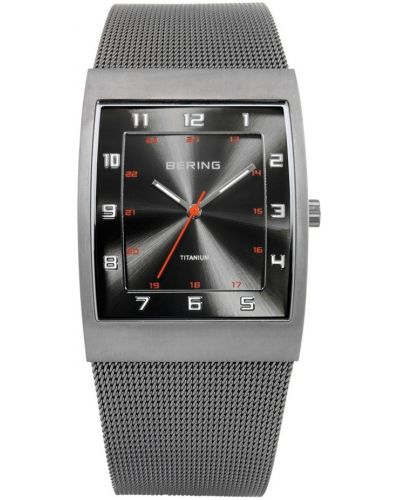 Mens Bering Titanium grey milanese strap 11233-077 Watch