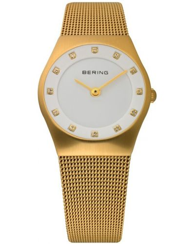 Womens Bering Classic Gold plated crystal set 11927-334 Watch