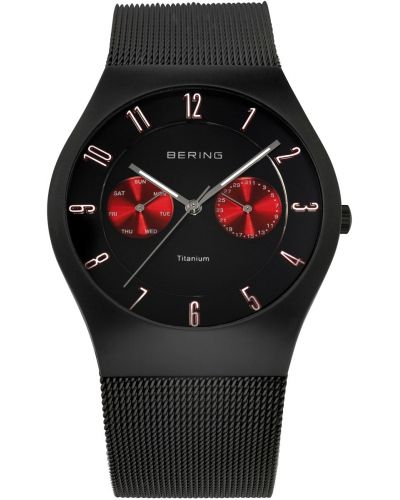 Mens Bering Titanium Black Milanese strap 11939-229 Watch
