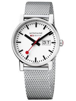 Mens Mondaine Evo 30mm Big Date Mesh Bracelet A669.30305.11SBM Watch
