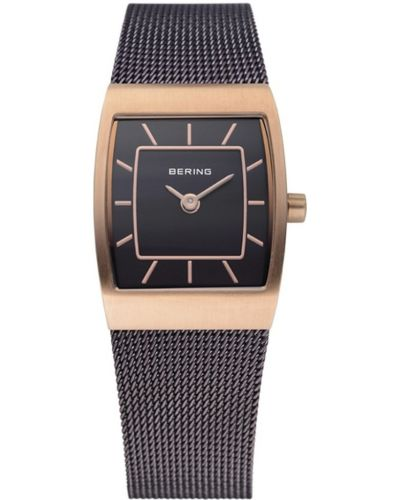 Womens Bering Classic Rose gold brown stainless steel 11219-265 Watch