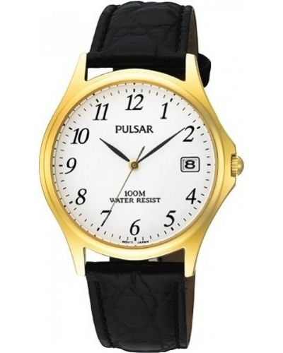 Mens Pulsar  Classic gold stainless steel PXH566X1 Watch