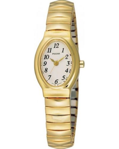 Womens Pulsar  Classic gold plated expander PRS586X1 Watch