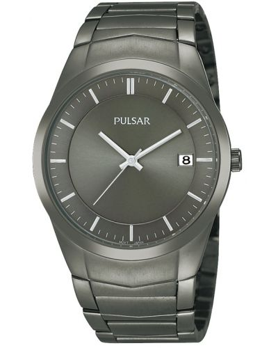 Mens Pulsar  Classic Grey ion plated stainless steel PS9153X1 Watch