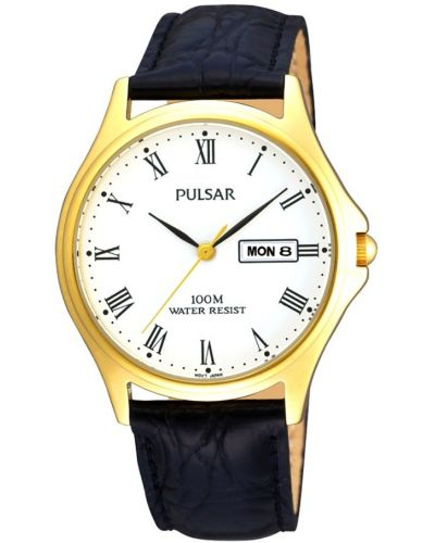 Mens Pulsar  Classic gold stainless steel PXF292X1 Watch