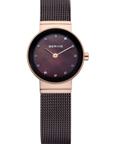 Womens Bering Classic Brown stainless steel rose gold 10122-265 Watch