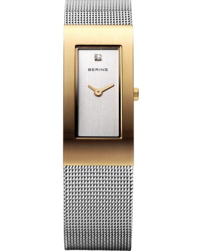 Womens Bering Classic Stainless steel gold plated milanese strap 10817-001 Watch