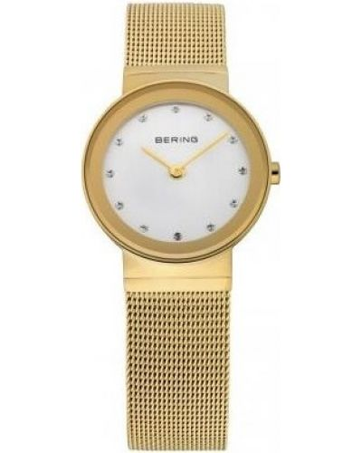 Womens Bering Classic gold plated crystal set 10122-334 Watch