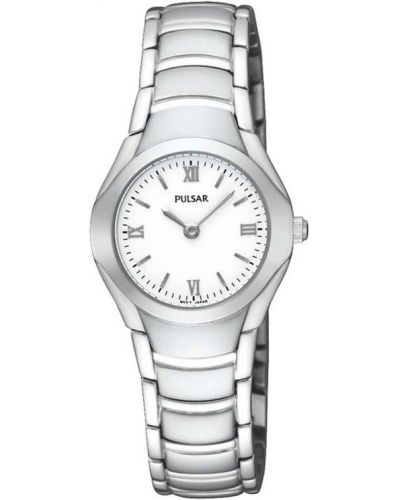 Womens Pulsar  Classic plain stainless steel PEGE49X1 Watch