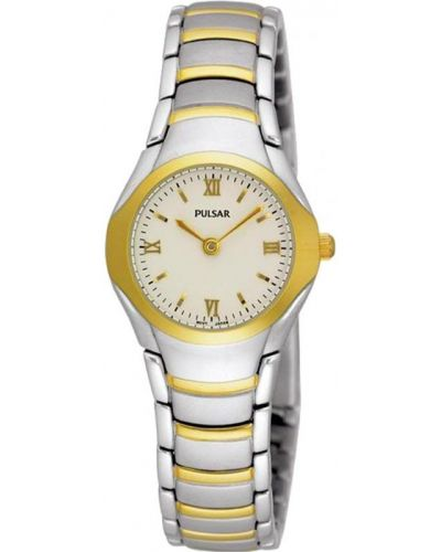 Womens Pulsar  Classic stainless steel gold highlighted PEG406X1 Watch