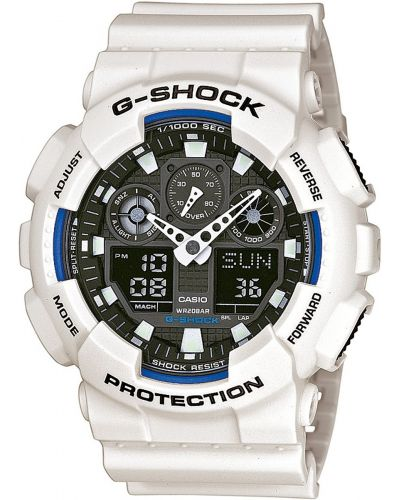 Mens Casio G Shock White and black GA-100B-7AER Watch