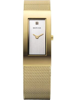 Womens Bering Classic Gold plated milanese strap 10817-334 Watch