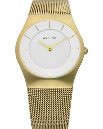 Womens Bering Classic gold plated milanese strap 11930-334 Watch