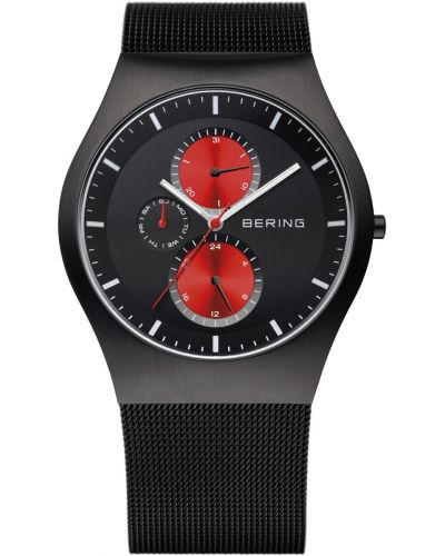 Mens Bering Classic Black stainless steel milanese strap 11942-229 Watch