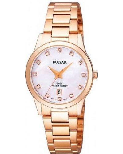 Womens Pulsar  Classic rose gold crystal set PH7312X1 Watch