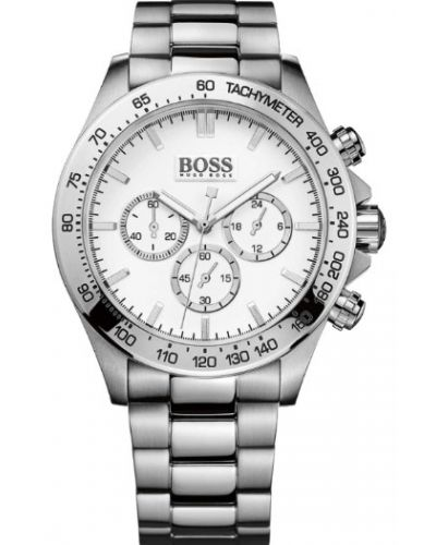 Mens Hugo Boss HB3060 White stainless steel chronograph 1512962 Watch