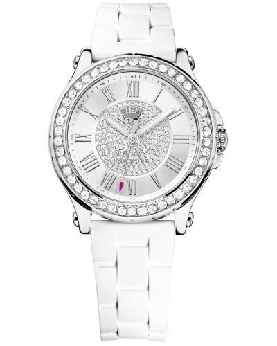 Womens Juicy Couture Pedigree Stainless steel white resin strap 1901051 Watch